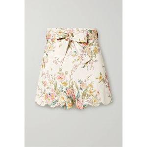 ZIMMERMANN Zinnia Scalloped Floral Shorts